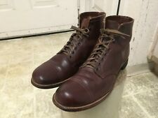 VINTAGE 40'S RED WING ANKLE BOOTS 12 D MADE IN USA ARMY