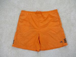 VINTAGE Adidas Swim Trunks Adult Large Orange Blue Bathing Suit Shorts Mens 90s*