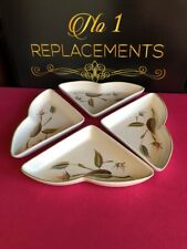 4 x Denby Spring Hand Painted Triangle Serving Dishes Rare