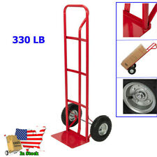 Red 330LB Hand Truck Dolly Convertible Platform Cart Trolley with 2 Wheels