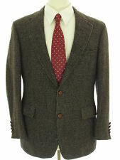 Brussell's Beverly Hills Wool Tweed 42S Vtg Two Button Sport Coat Blazer Jacket