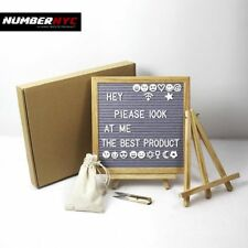 Changeable Felt Letter Board with 335 Letters 10x10 Classic Oak frame Decorative