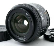 [MINT.] Nikon AF NIKKOR 24mm f/2.8 D Wide Angle Lens w/ Caps FROM JAPAN by FedEx