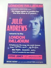 More details for julie andrews  original london palladium theatre poster 1976