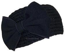 Best Winter Hats Womens Knit Headband W/Large Bow, Wrap, Warmer, #439 Black