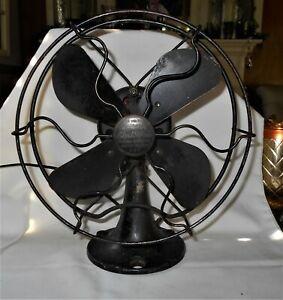 "Vintage United Drug Company 9"" Electric Fan Boston St. Louis Works !"