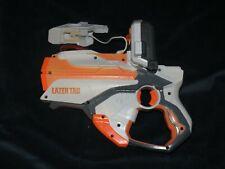 sh7 Hasbro NERF Lazer Tag Guns Blaster ORANGE WHITE With iPhone iPod Holder 2012