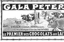 VEVEY CHOCOLAT GALA PETER PUBLICITE 1904