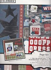 COLORBOK SPORTS SCRAPBOOKING 12 IN. PAGE KIT INCLUDES STICKERS, PAPER, DIE-CUTS