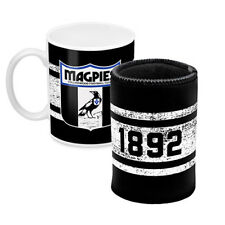 Collingwood Magpies AFL Coffee Mug Can Cooler Fathers Day Bar Man Cave Gift