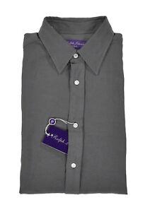 Ralph Lauren Purple Label Long Sleeve Linen Silk Dress Shirt New $495