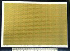 "OO/HO gauge (1:76 scale) ""yellow roof tile"" self adhesive vinyl - A4 sheet"