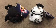 Set of 2 - Angry Birds Star Wars - Darth Vader Trooper - 7cm - Plush Clip -BNWT