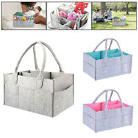 Baby Nursery Diaper Nappy Wipes Felt Storage Bag Case Toys Organizer Container