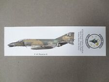 BOOKMARK F-4C PHANTOM II 433rd Tactical Fighter Squadron United States Air Force