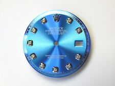 Men's Rolex Datejust S-S Non-Quickset Pie Pan 1601 Light Blue Color with Diamond