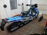 POLARIS AXYS TUNNEL TANK SKS decal GRAPHICS 800 600 PRO RMK 155 163 BLUE black