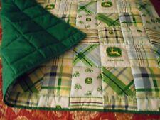 Handmade Baby Quilt- John Deere- Green Toddler Bed/Crib Quilt Comforter Blanket