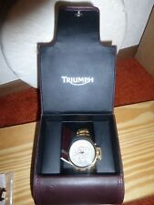 Triumph-Swiss-Men's-Stainless Steel-Gold-Chronograph Ltd Ed. Watch!  Must See!