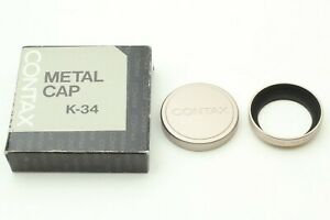 [ MINT ] Contax TVS Metal Hood & Metal Cap φ38 K-34 from Japan