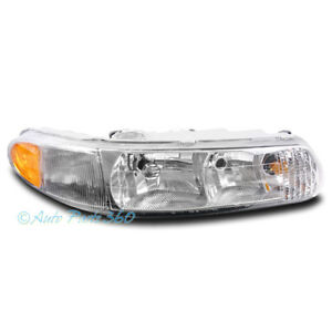 FOR 97-04 BUICK CENTURY/REGAL HEADLIGHT HEADLAMP CHROME CLEAR PASSENGER RIGHT