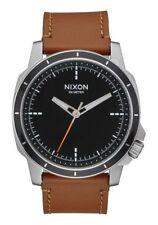 NIB Nixon Ranger Ops Leather Watch Black Saddle 914-1037