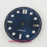 30.8mm Sterile Blue Watch dial Luminous Date fit eta 2824 miyota 8205 movement