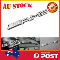 Chrome Silver AMG LOGO Badge Emblem Sticker Mercedes Benz A C E CLA GLA GLC GLA
