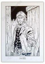 Affiche Sérigraphie Swolfs Durango Noir et blanc 200ex signée 35x50 cm