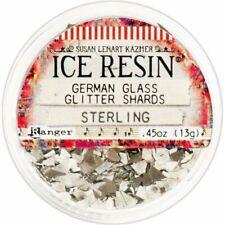 Ranger - Ice Resin - German Glass Glitter Shards - Sterling Silver