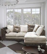 Up to 4 Crushed Velvet L shaped Sofas
