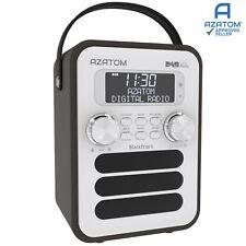 DAB DAB+ Radio Home Speaker Digital Alarm Battery AZATOM Blackfriars Black Ash