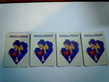 Used 1991 Dream Phone Board Game Parts SET of 4 Share A Secret Cards VGC