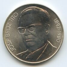 GS1035 - Jugoslawien 1000 Dinara 1980 KM#78a XF+ Silber Josip Broz Tito's Death