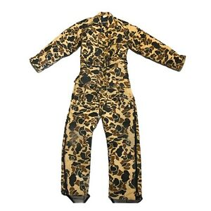 10X CAMOUFLAGE COVERALLS HEAVY INSULATED 1 PIECE HUNTING SUIT M 38-40