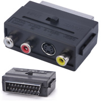 Connect Composite 3RCA S-Video AV L/R to TV Converter Adapter by SCART Port