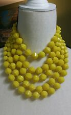 """KATE SPADE ♤ NEW YORK """"CUT TO THE CHASE"""" MULTI-STRAND NECKLACE. BRIGHT YELLOW"""
