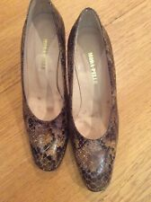 Moda in pelle snake skin leather court shoes 4.5UK 37.5EU