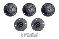 5 pcs 4 Pole Pin Locking Speakon Round Chassis Mount Speaker Pro Audio X-1092