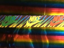 "DIY 5 Yard 3"" Nike Printed Grosgrain Ribbon Hair Bow Sewing Rainbow Zebra Stripe"