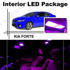 For Kia Forte 2010-2013 Pink LED Interior Kit + Pink License Light LED