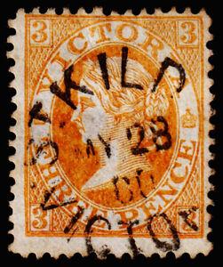 Victoria Scott 114 (1867) Used F, CV $6.50 M
