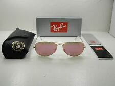 RAY-BAN COCKPIT SUNGLASSES RB3362 112/4T GOLD FRAME/CYCLAMEN LENS 59MM, NEW!