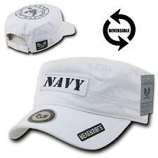 White United States Navy US Military USN Embroidered Baseball GI Cadet Cap Hat