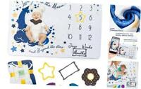 Monthly Baby Milestone Blanket Baby Boy - Girl, XL Super Soft Photo Blanket ,