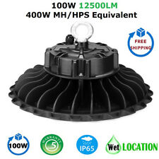 1000LED 100W UFO LED High Bay Light, Super Bright 12500 Lumens, IP65 Waterproof