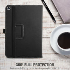 Leather Case For ASUS ZenPad Z8s 2017 Tablet Cover [w/Auto Sleep/Wake] Black