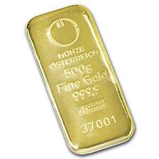 500 gram Gold Bar - Austrian Mint (Cast) - SKU #78386