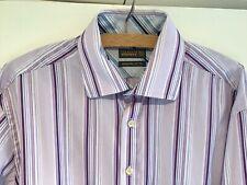 """TED BAKER ENDURANCE Men's 16.5"""" Smart Stripe Long Sleeve Shirt Collar 42"""" Chest"""