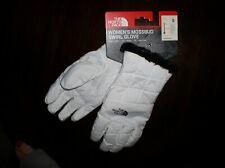 New listing Women's White North Face Mossbud Swirl Winter Sport Fleece Insulated Gloves Sz S